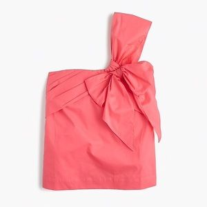 J crew one shoulder bow top wildflower pink 00